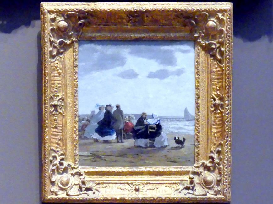 Eugène Boudin: Am Strand, Dieppe, 1864