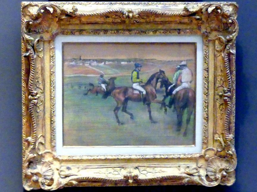 Edgar Degas: Rennpferde, um 1885 - 1888
