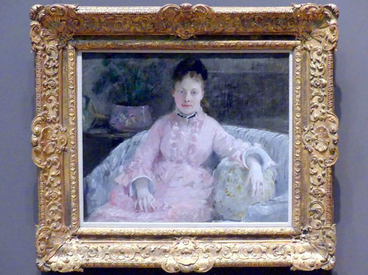 Berthe Morisot: Das rosa Kleid (Albertie-Marguerite Carré, später Madame Ferdinand-Henri Himmes, 1854-1935), um 1870