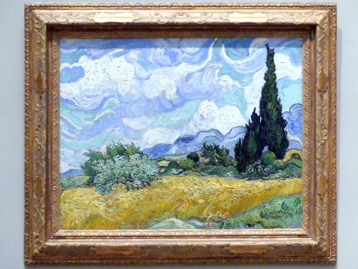 Vincent van Gogh: Weizenfeld mit Zypressen, 1889