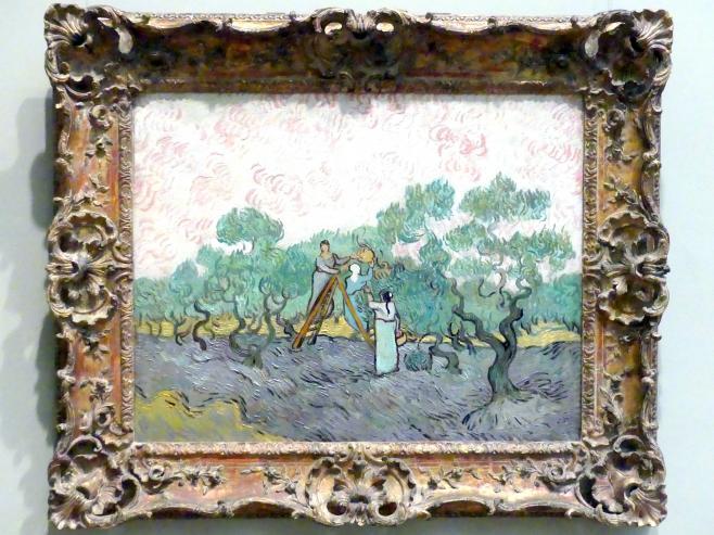 Vincent van Gogh: Frauen bei der Olivenernte, 1889