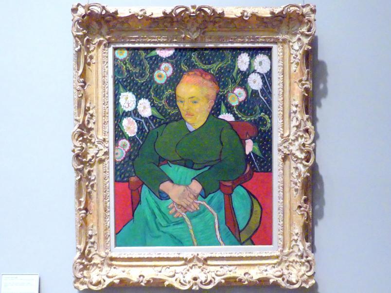 Vincent van Gogh: La Berceuse (Frau schaukelt eine Wiege; Augustine-Alix Pellicot Roulin, 1851-1930), 1889
