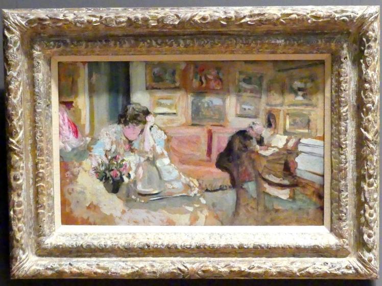 Édouard Vuillard: Jos und Lucie Hessel im kleinen Salon in der Rue de Rivoli, um 1900 - 1905