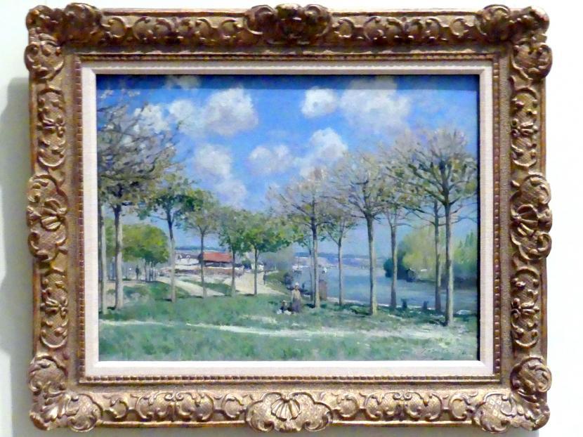 Alfred Sisley: Die Seine bei Bougival, 1876