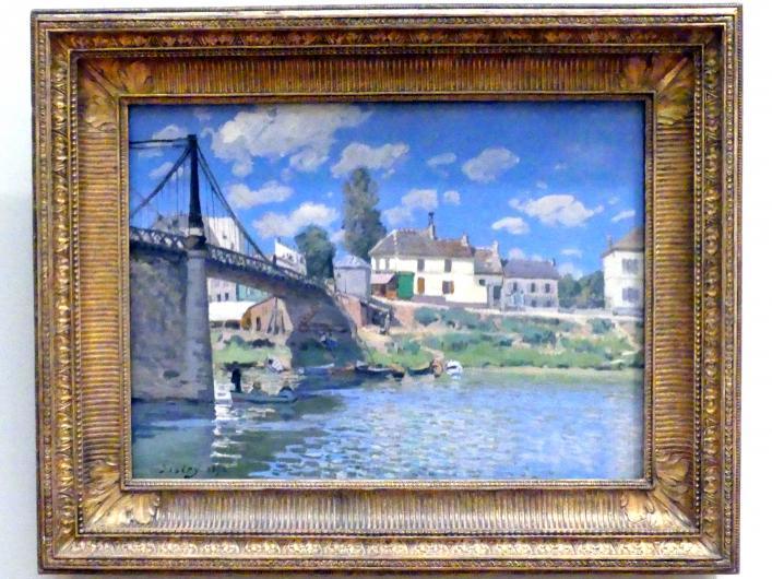 Alfred Sisley: Die Brücke von Villeneuve-la-Garenne, 1872
