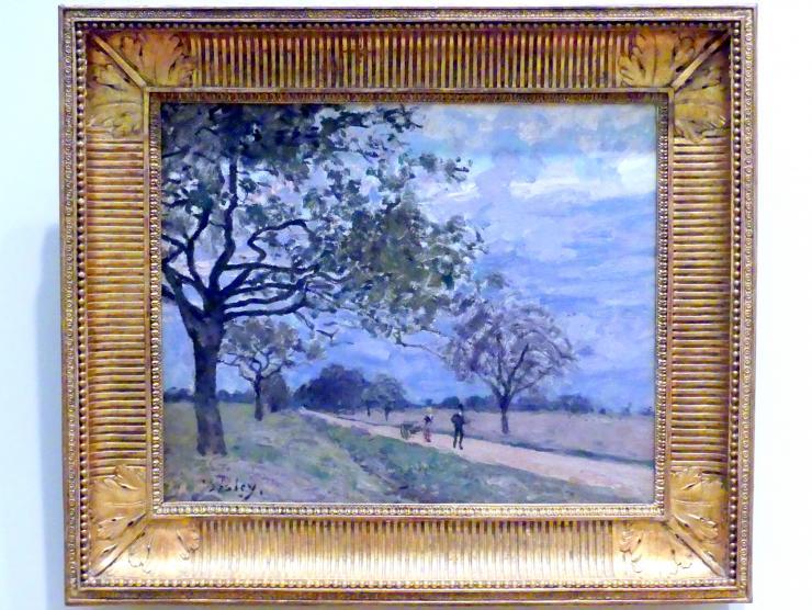 Alfred Sisley: Die Straße von Versailles nach Louveciennes, 1879