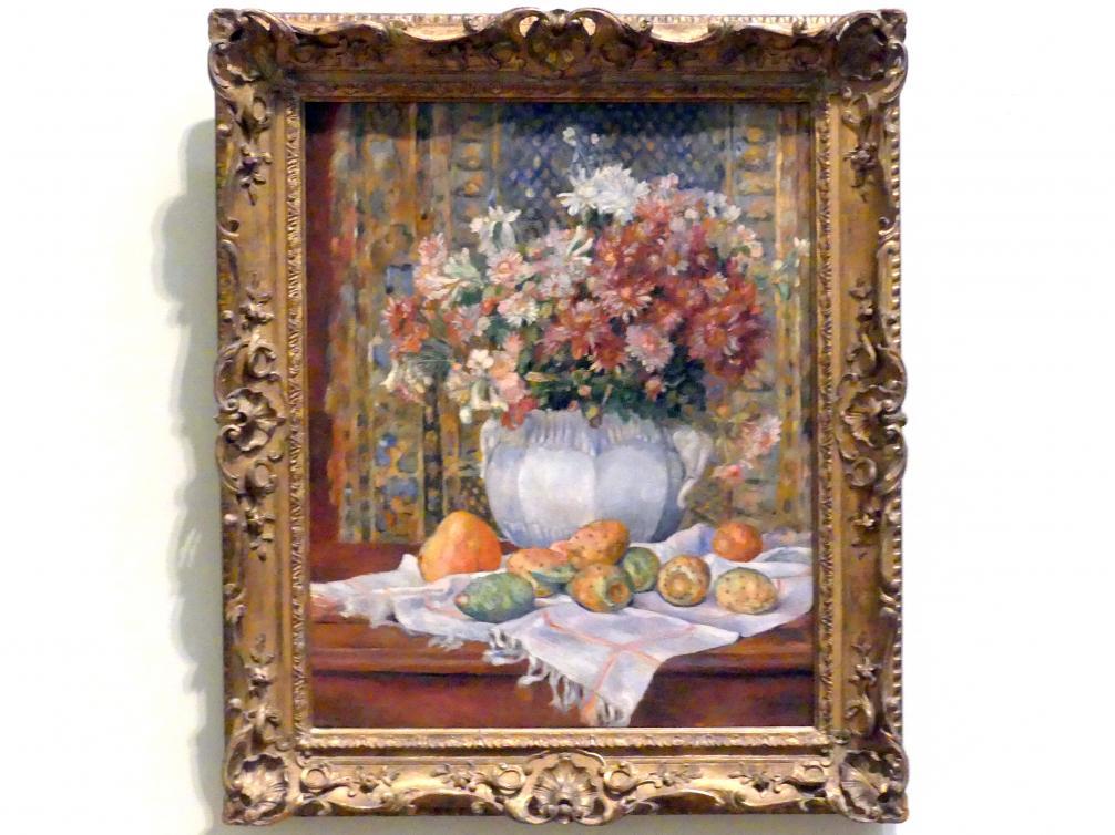 Auguste Renoir (Pierre-Auguste Renoir): Stillleben mit Blumen und Kaktusfeigen, um 1885
