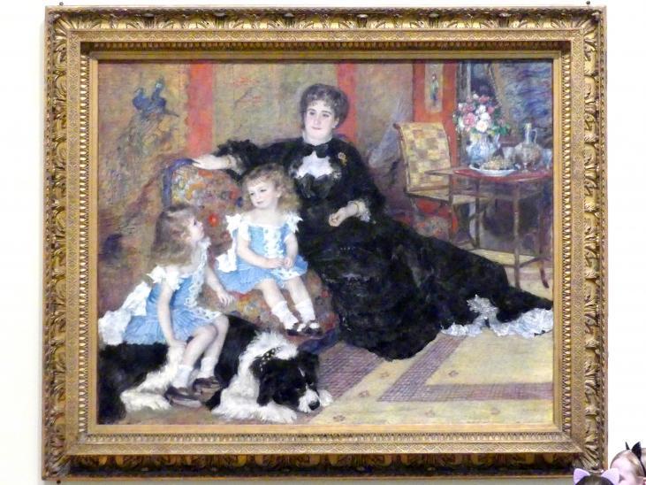 Auguste Renoir (Pierre-Auguste Renoir): Madame Georges Charpentier (geb. Marguérite-Louise Lemonnier, 1848-1904) und ihre Kinder, Georgette-Berthe (1872-1945) und Paul-Émile-Charles (1875-1895), 1878