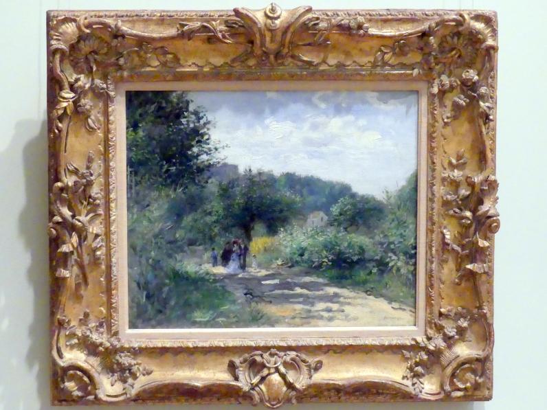 Auguste Renoir (Pierre-Auguste Renoir): Eine Straße in Louveciennes, um 1870