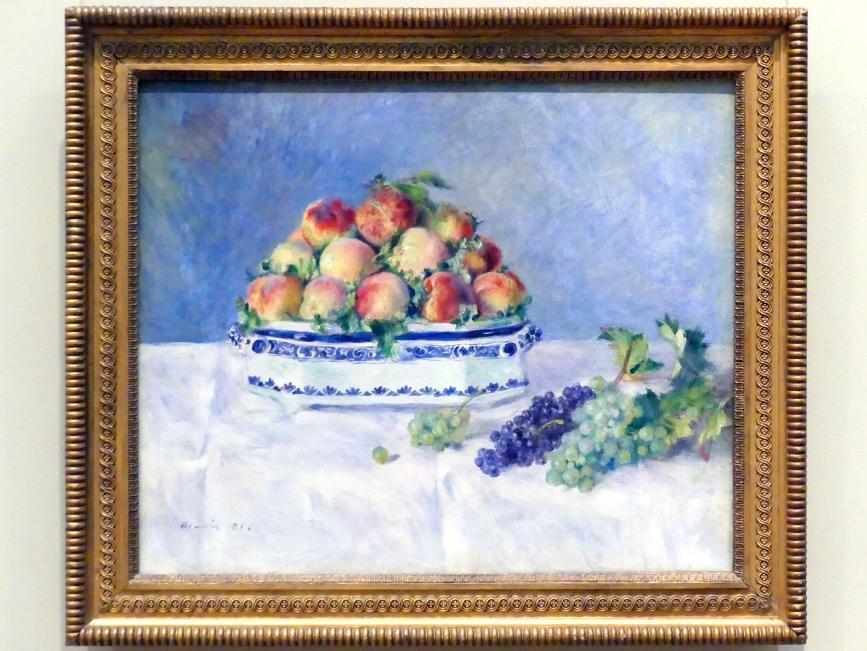 Auguste Renoir (Pierre-Auguste Renoir): Stillleben mit Pfirsichen und Trauben, 1881