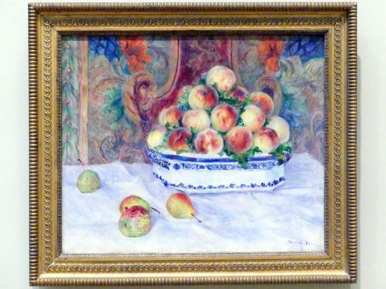 Auguste Renoir (Pierre-Auguste Renoir): Stillleben mit Pfirsichen, 1881