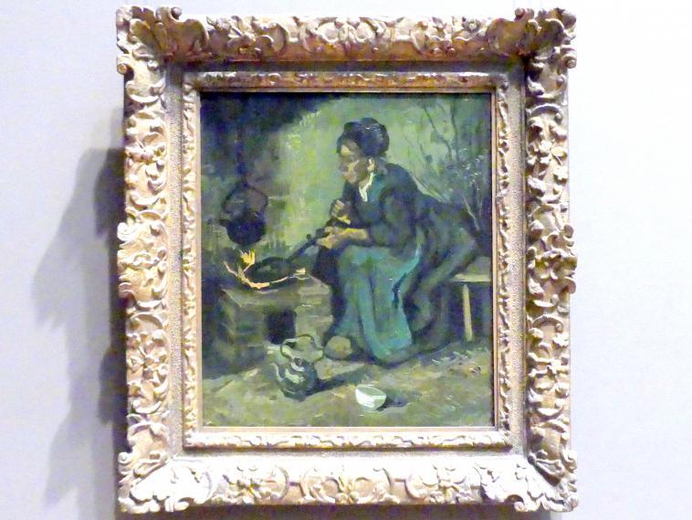 Vincent van Gogh: Bäuerin am Herdfeuer, 1885