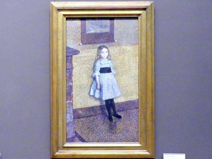 Théo van Rysselberghe: Kleine Denise (Denise Maréchal, später Madame Georges Béart, 1883-1956), 1889