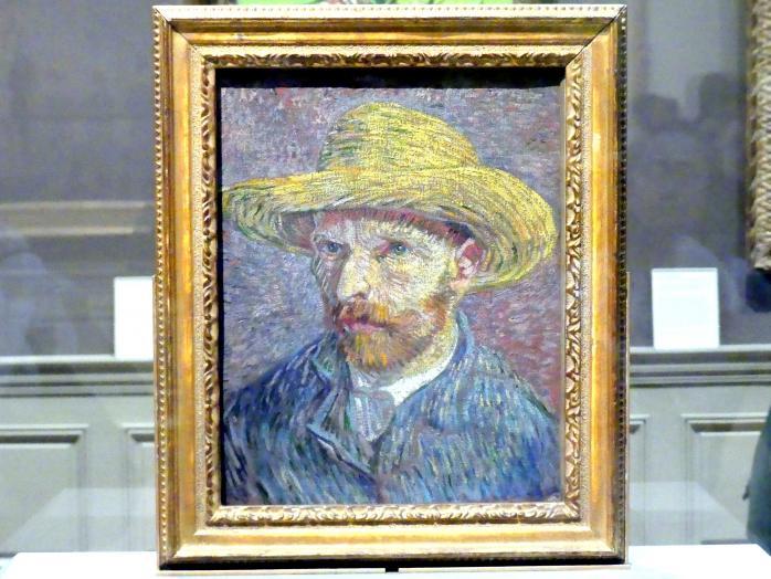 Vincent van Gogh: Selbstporträt mit Strohhut, 1887