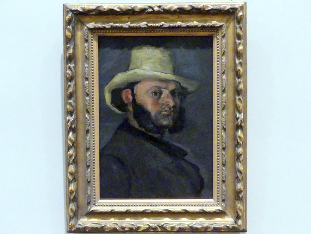 Paul Cézanne: Gustave Boyer (geb. 1840) in einem Strohhut, 1870 - 1871