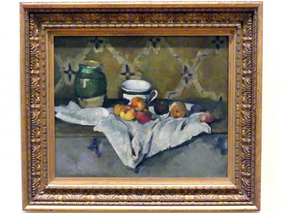 Paul Cézanne: Stillleben mit Topf, Becher und Äpfeln, um 1877