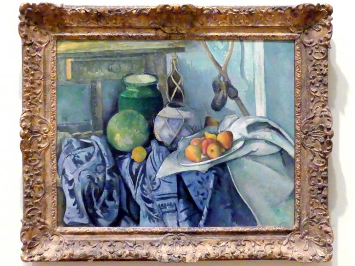 Paul Cézanne: Stillleben mit Ingwerglas und Auberginen, 1893 - 1894
