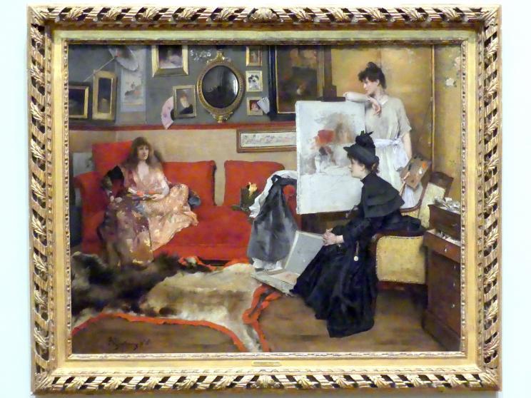 Alfred Stevens: Im Studio, 1888