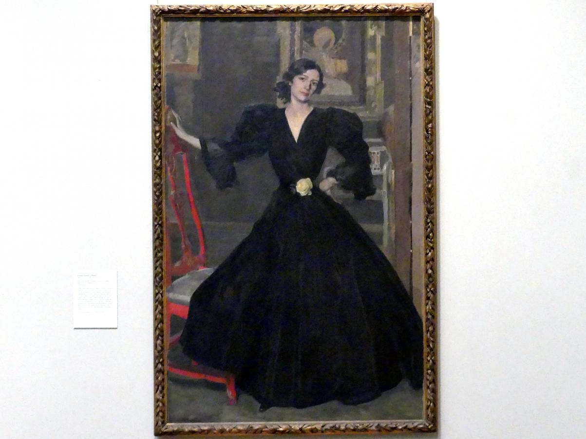 Joaquín Sorolla: Señora de Sorolla (Clotilde García del Castillo, 1865-1929) in Schwarz, 1906