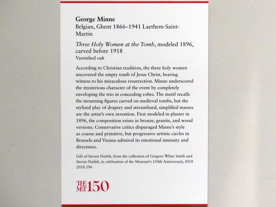 George Minne: Drei Heilige Frauen am Grab, 1896, Bild 3/3