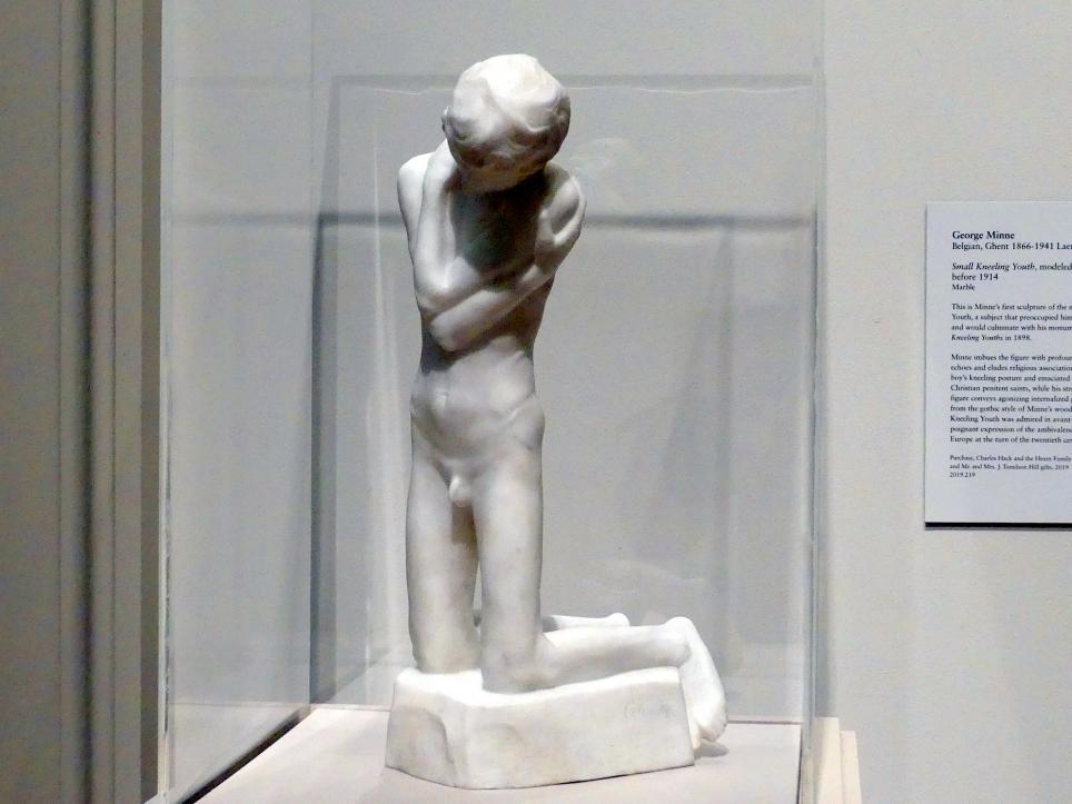 George Minne: Kleiner kniender Junge, 1896