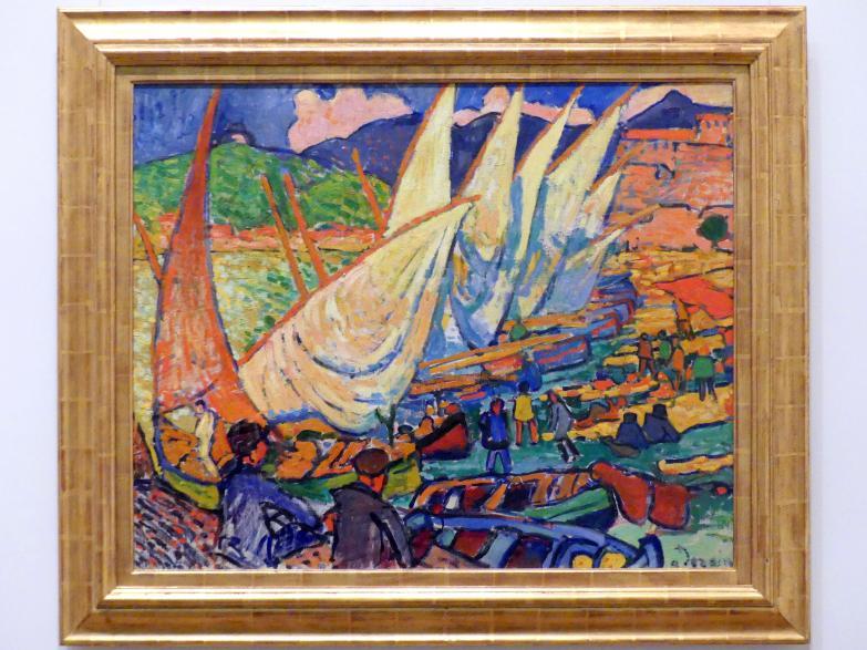 André Derain: Fischerboote, Collioure, 1905