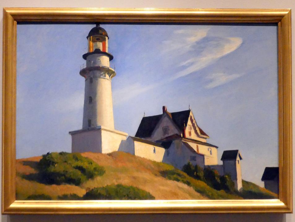 Edward Hopper: The Lighthouse at Two Lights - Leuchtturm mit zwei Lichtern, 1929