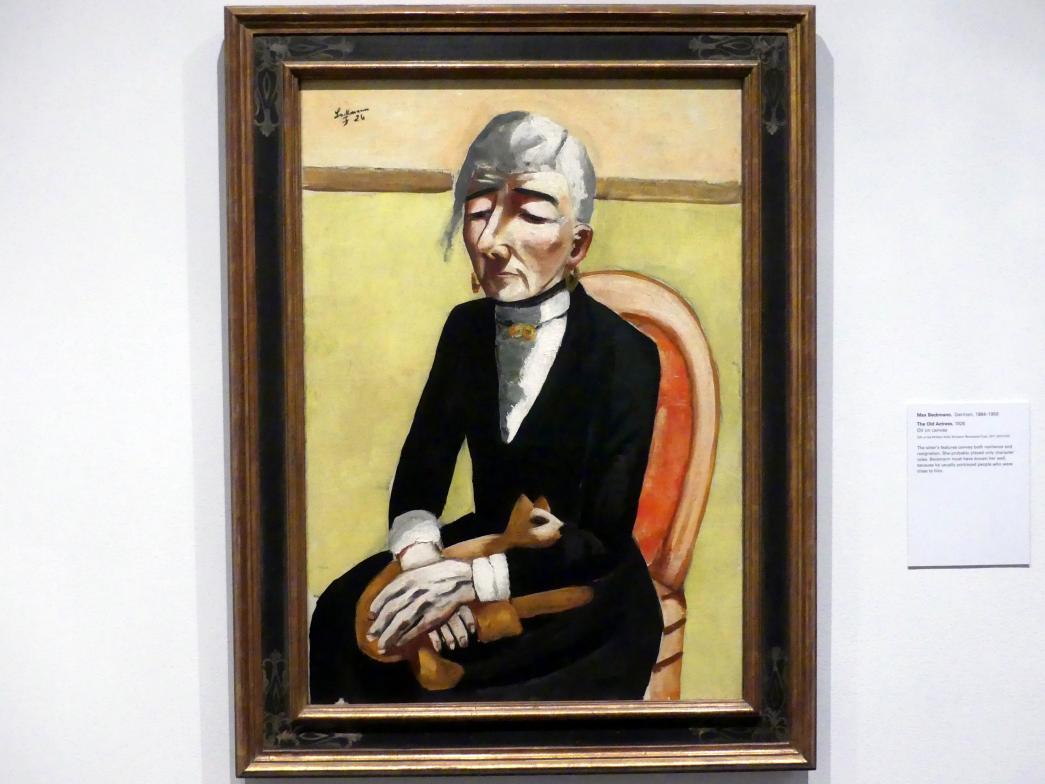Max Beckmann: Die Alte Schauspielerin, 1926