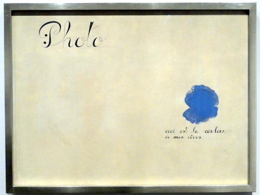 Joan Miró: Foto: Dies ist die Farbe meiner Träume, 1925