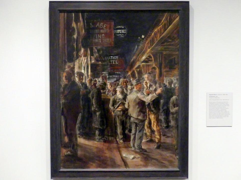 Reginald Marsh: Die Bowery in New York, 1930
