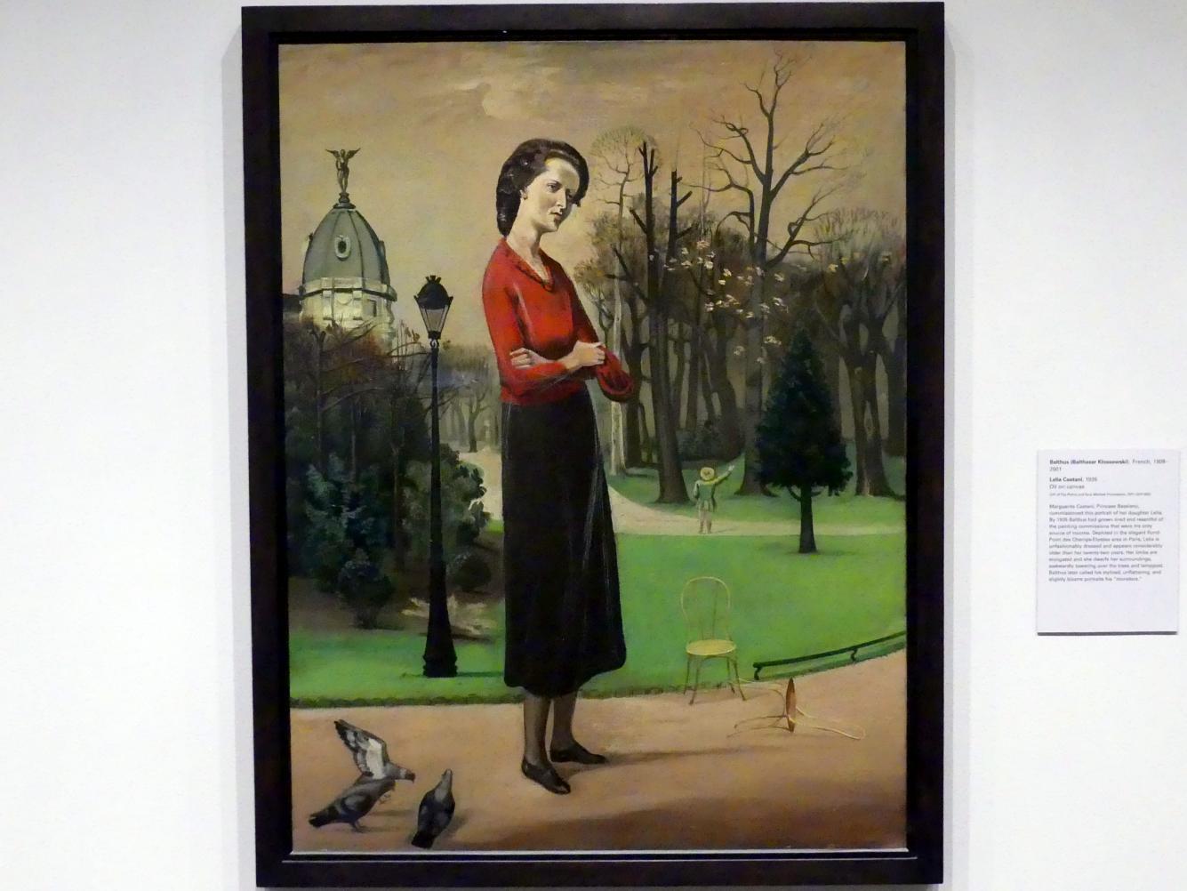Balthus (Balthasar Kłossowski de Rola): Lelia Caetani, 1935