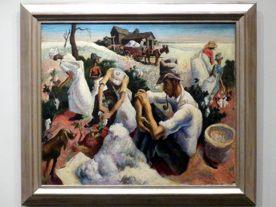 Thomas Hart Benton: Baumwollpflücker, Georgia, 1928 - 1929