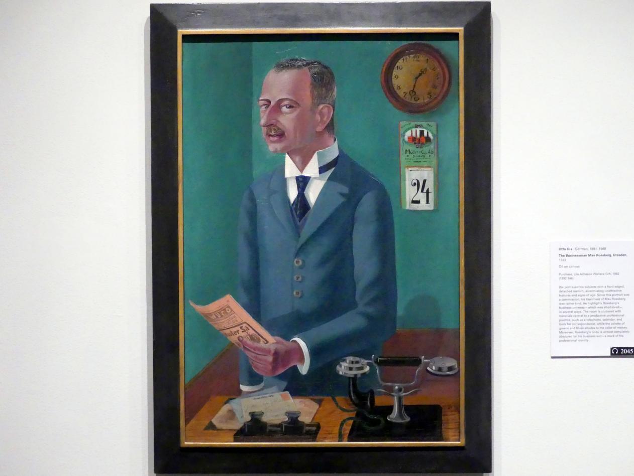 Otto Dix: Der Kaufmann Max Roesberg, Dresden, 1922