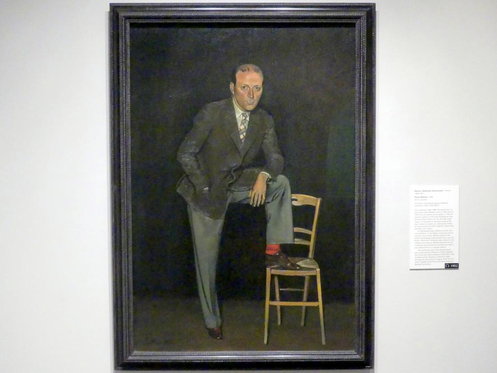 Balthus (Balthasar Kłossowski de Rola): Pierre Matisse, 1938