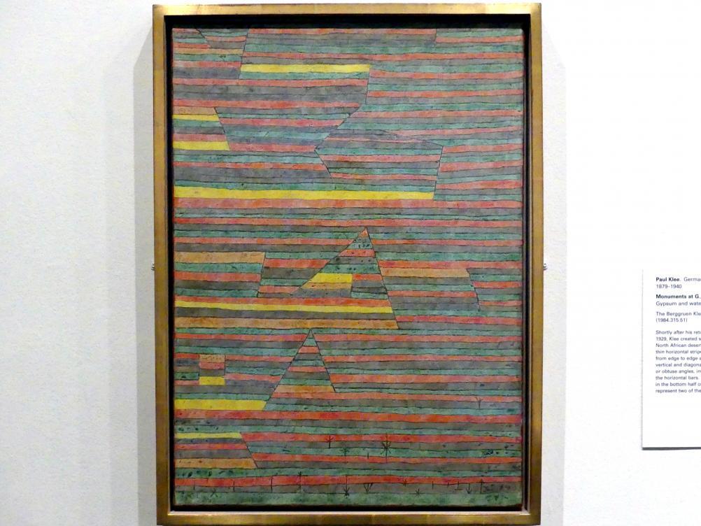 Paul Klee: Monumente bei G., 1929