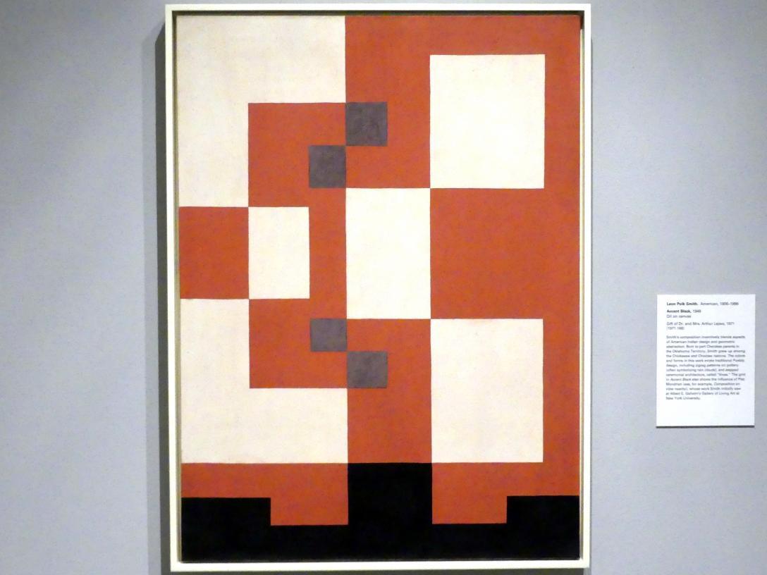 Leon Polk Smith: Accent Black - Akzent schwarz, 1949