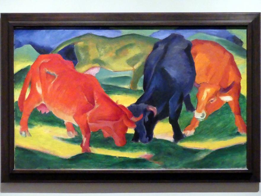 Franz Marc: Kämpfende Kühe, 1911