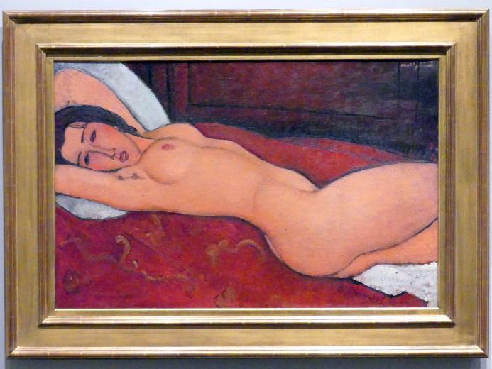 Amedeo Modigliani: Liegender Akt, 1917