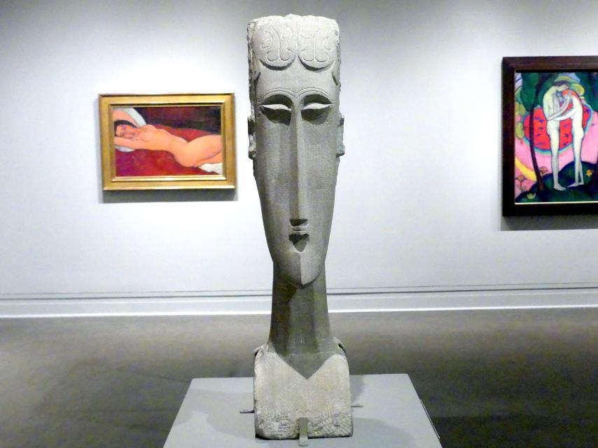 Amedeo Modigliani: Frauenkopf, 1912