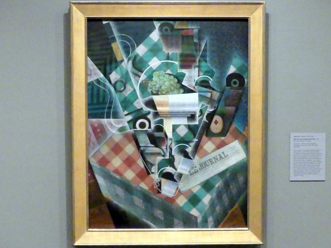 Juan Gris: Stillleben mit karierter Tischdecke, 1915