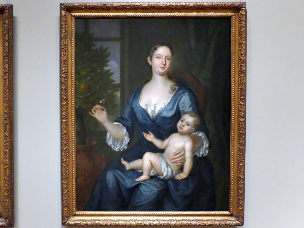 John Smibert: Mrs. Francis Brinley und ihr Sohn Francis, 1729