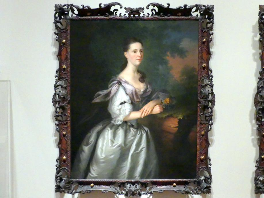 Joseph Blackburn: Mrs. Samuel Cutts, um 1762 - 1763