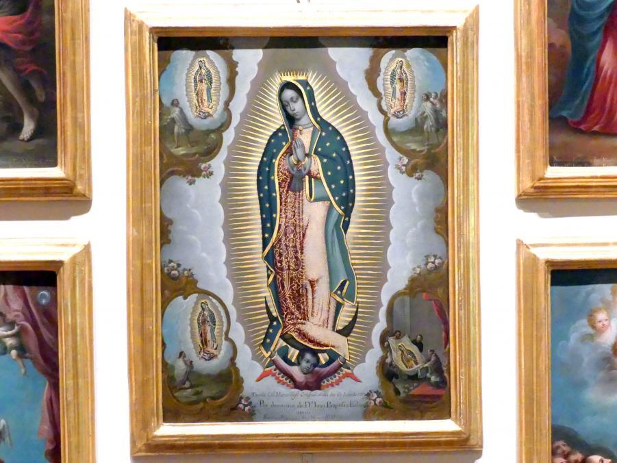 Nicolás Enríquez: Unsere Liebe Frau von Guadalupe und die vier Erscheinungen, 1773