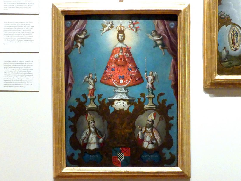 Nicolás Enríquez: Unsere Liebe Frau von El Camino mit den hll. Firminus und Saturninus, 1773