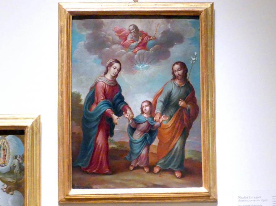 Nicolás Enríquez: Die Rückkehr der Heiligen Familie aus Ägypten, 1773