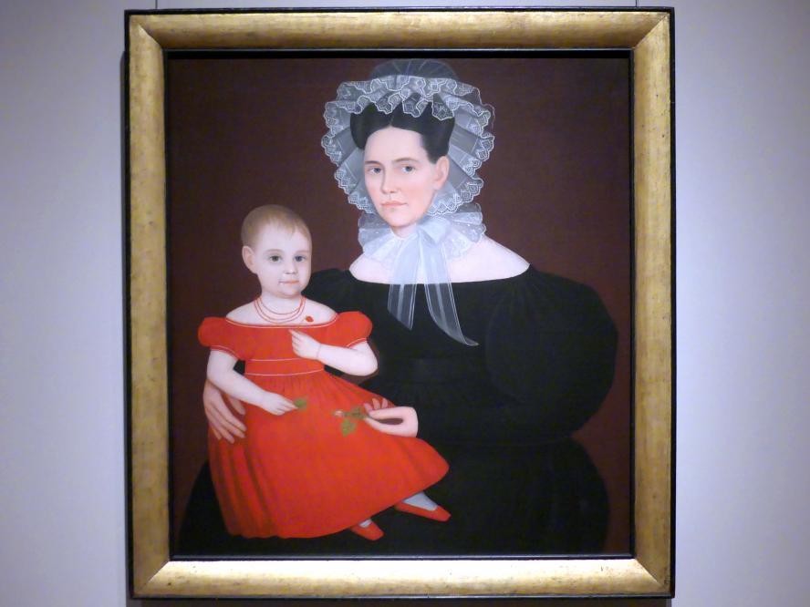 Ammi Phillips: Frau Mayer mit Tochter, um 1835 - 1840