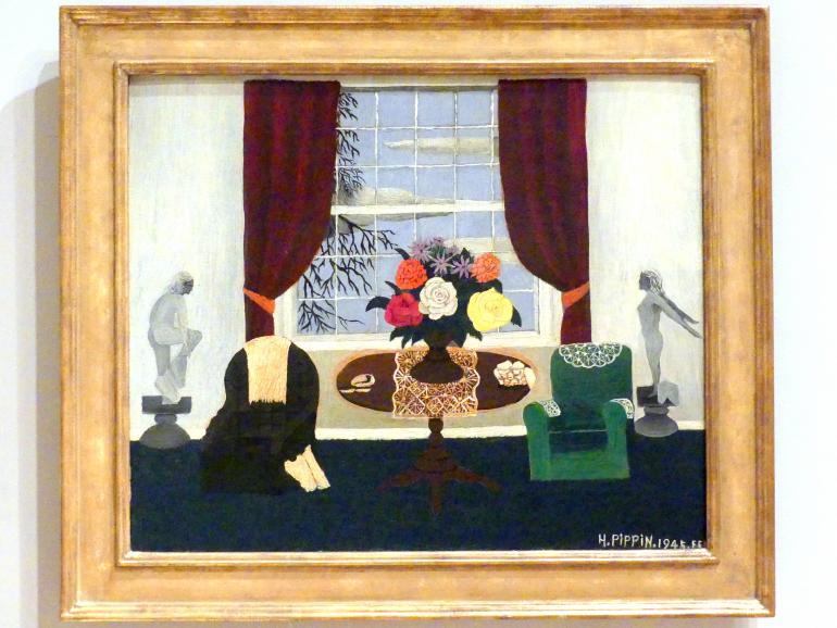 Horace Pippin: Viktorianisches Interieur I, 1945