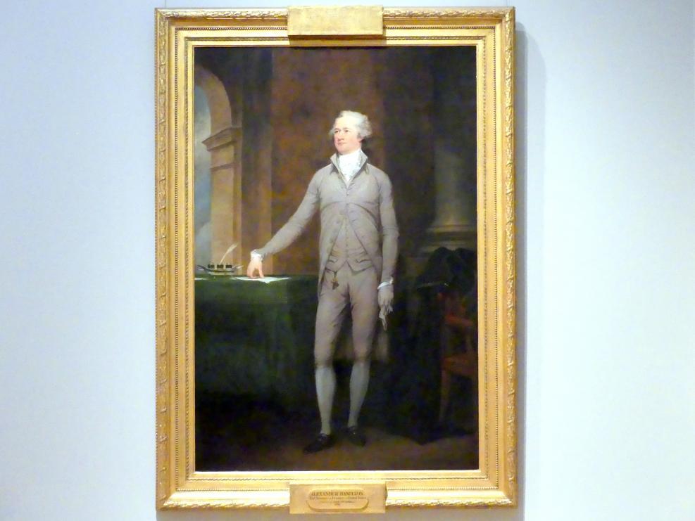 John Trumbull: Alexander Hamilton, 1792
