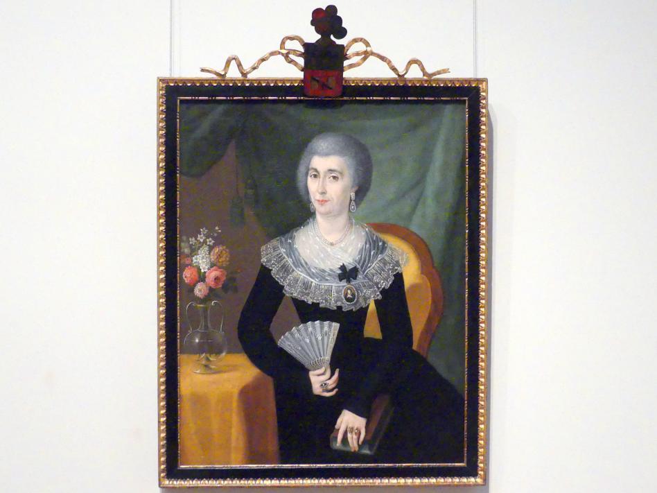 José Campeche: Porträt einer Frau in Trauer, um 1805