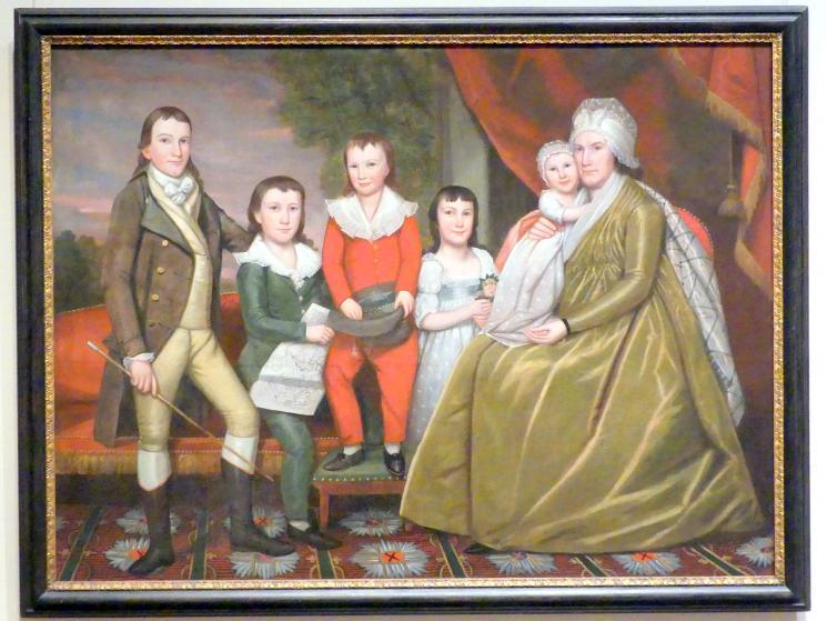 Ralph Earl: Frau Noah Smith und ihre Kinder, 1798